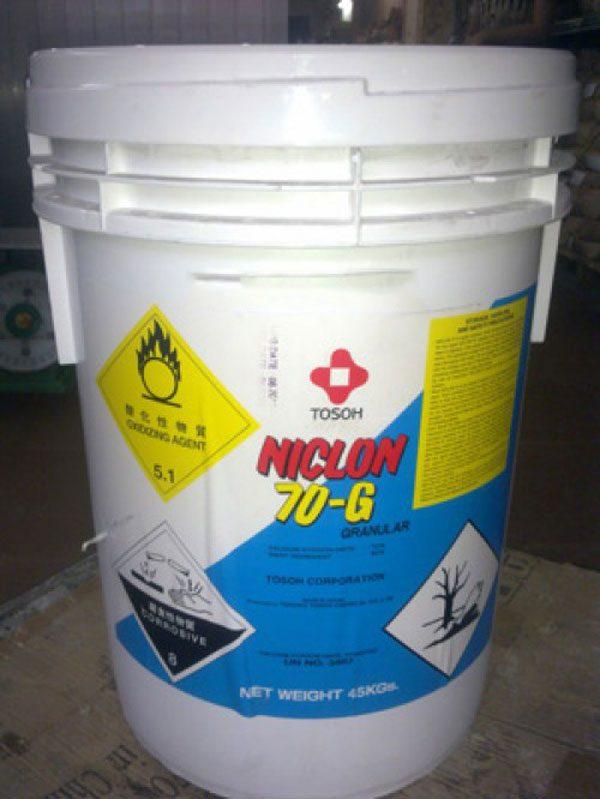 Hóa chất hồ bơi Chlorine Niclon 70G