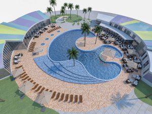 Bản vẽ thiết kế bể bơi thi đấu và trong nhà