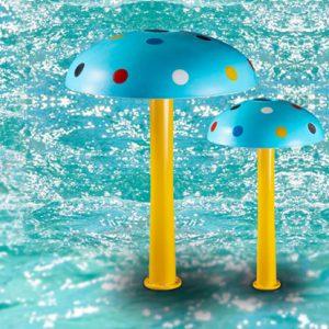 Đài phun nước bằng thủy tinh dành cho bể bơi
